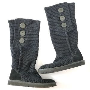UGG   Black Classic Cardy Knit Boots 5819 Sz.7